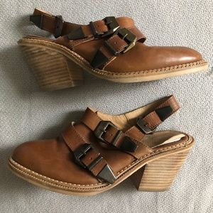 ASOS leather sling back w/heel